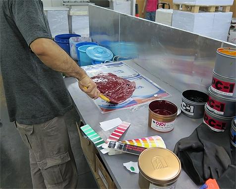 Mix printing ink