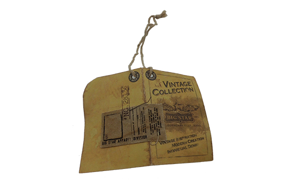 Vintage hang tag