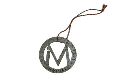 Die-cut printed hang tag with string
