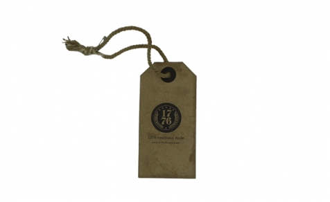 Vintage hang tag with cotton string