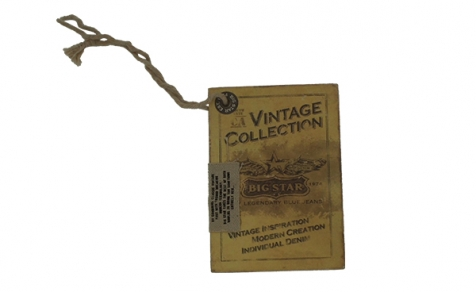 Classical swing ticket with jute rope