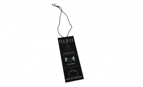 Black hang tag for clothing