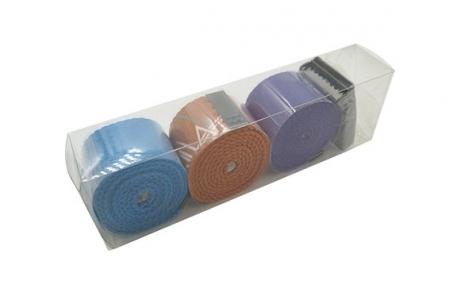 Clear PET box for webbing belts