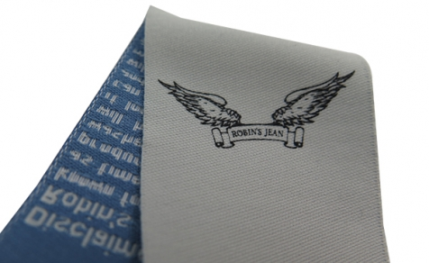 Woven label for clothing